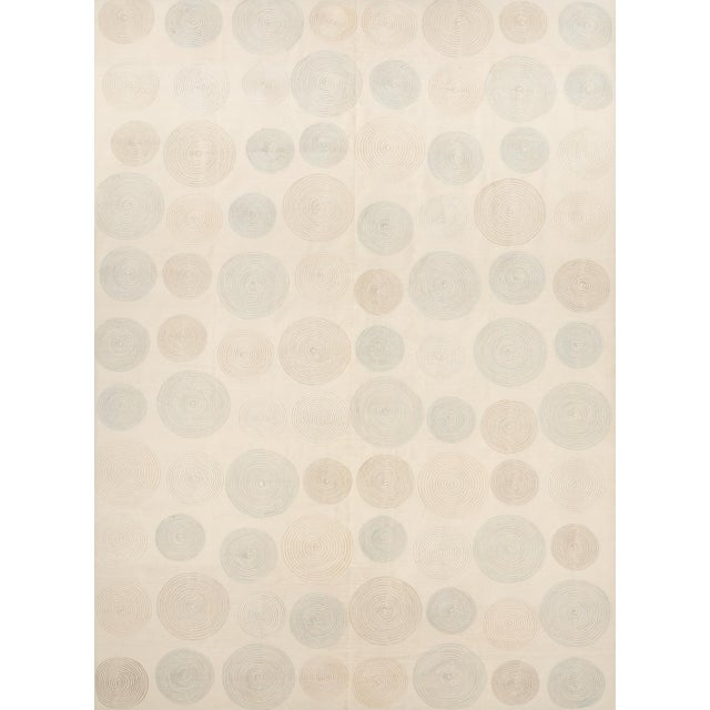 Schumacher Whirlpool Area Rug in Hand-Woven Wool, Patterson Flynn Martin For Sale