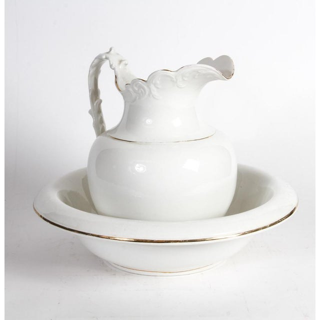 Semi-Vitreous Porcelain Basin and Pitcher For Sale - Image 9 of 9