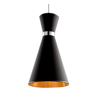 Black and Copper Pendant Light For Sale