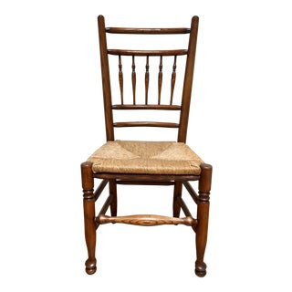 19th Century Americana Side Chair With Rush Seat