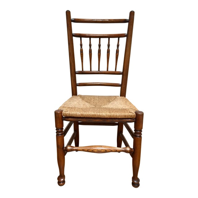 19th Century Americana Side Chair With Rush Seat For Sale