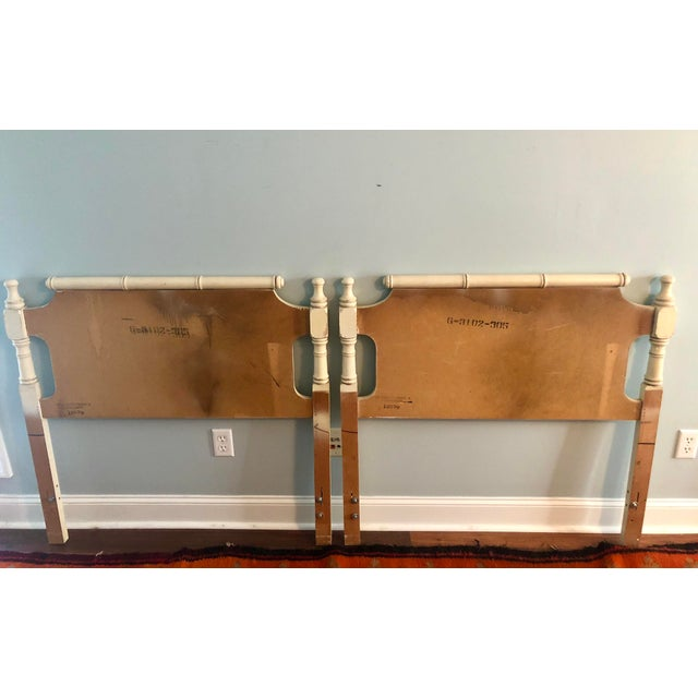 Faux Bamboo Pagoda Twin Headboards- a Pair For Sale - Image 4 of 9