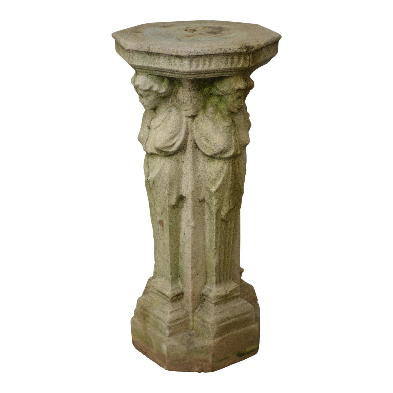 garden sculptures pedestal structure sculpture free art picture statue