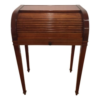 Cherry Roll Top Accent Table For Sale