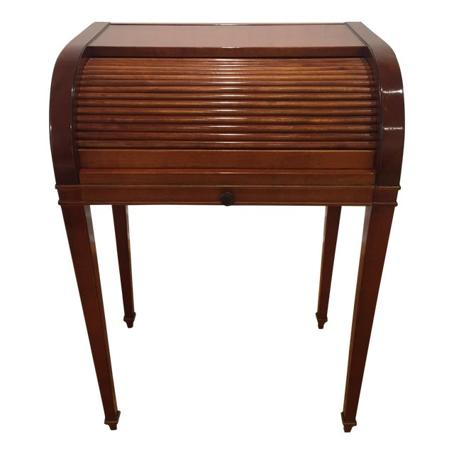 Cherry Roll Top Accent Table - Image 1 of 9