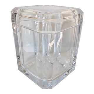 Alessandro Fabrizzi Lucite Ice Bucket For Sale