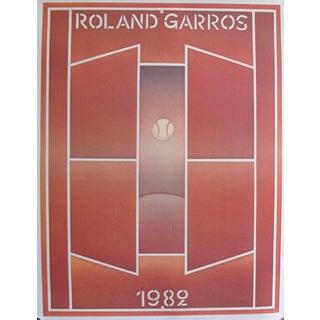 1982 Original Folon Poster, Roland Garros French Open Tennis Tournament (Artist Signed) For Sale