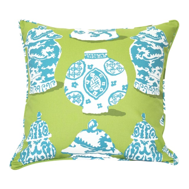 Dana Gibson Ginger Jar Pillow - Image 1 of 3