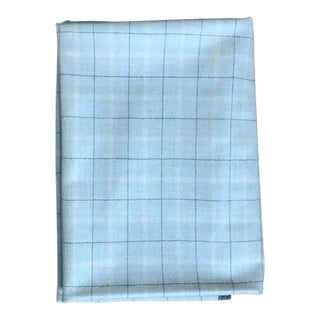 Pale Blue Wool Fabric- 1 1/3 Yards For Sale