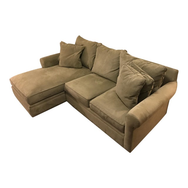Macy's Doss Microfiber Sectional With Chaise For Sale