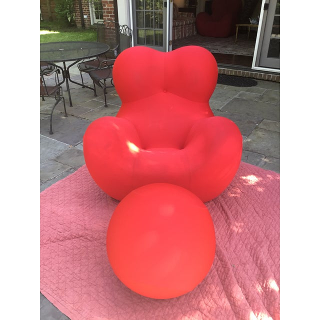 B&b Italia Up Series 2000 Gaetano Pesce Chairs & Ottoman - Set of 3 For Sale In Nashville - Image 6 of 13