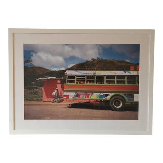 Framed Nicaraguan Painted Bus Photograph For Sale