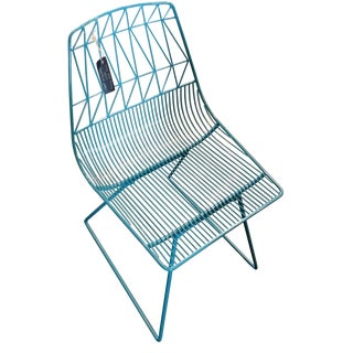 Bend Goods Blue Lucy Side Chair For Sale