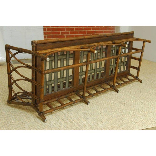 McGuire Organic Modern Bamboo Rattan Sofa For Sale - Image 12 of 13