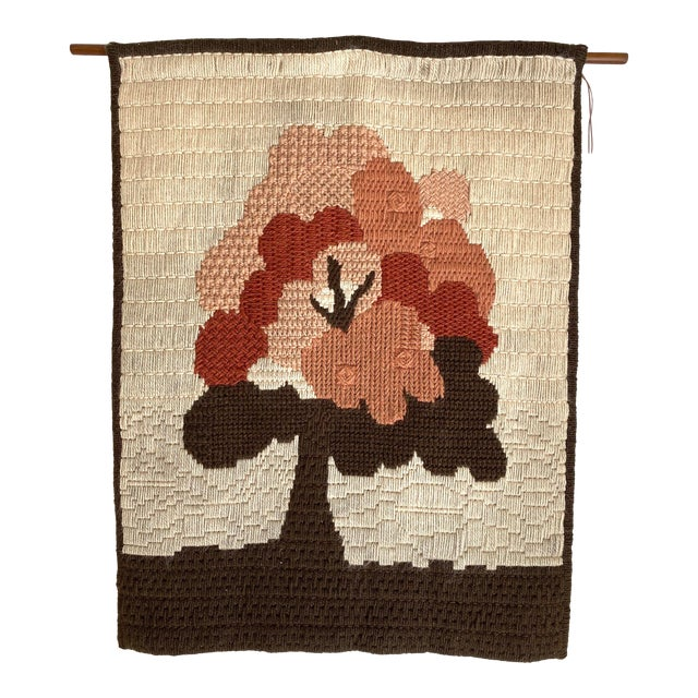Vintage Danish Woven Textile Wall Hanging For Sale