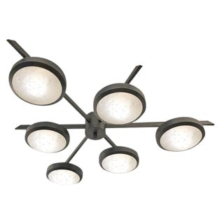 """Geometria Sospesa Sei"" Black Bronze Edition Ceiling Light For Sale"