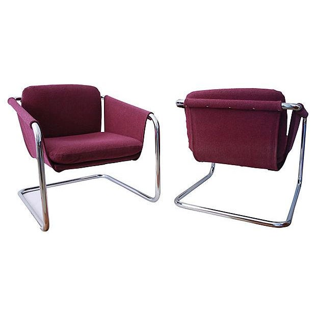 1980s Postmodern Cantilevered Chairs - A Pair - Image 3 of 10