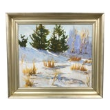 """Image of 1990s Howard Park """"Winter Landscape """" Oil on Canvas Painting For Sale"""