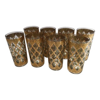 Mid-Century Culver Valencia Highball Glasses - Set of 8 For Sale