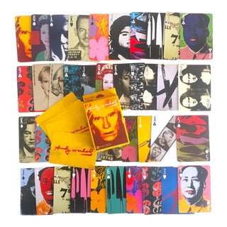 Andy Warhol Foundation Pop Art Collector's Playing Cards Boxed Deck - Set of 54 For Sale