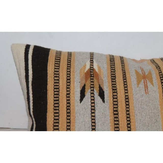 Navajo Navajo Indian Weaving Arrows Bolster Pillow For Sale - Image 3 of 6