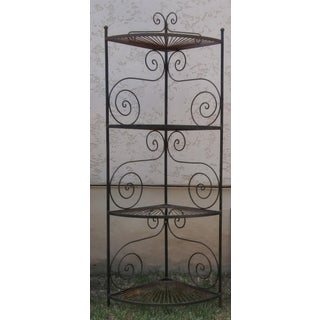 Vintage French Wrought Iron Corner Rack Preview