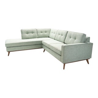 Mid Century Danish Modern Sectional Chaise Sofa For Sale