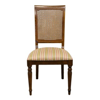 Late 20th Century Vintage Ethan Allen Classic Manor Collection Cane Back Dining Chair For Sale