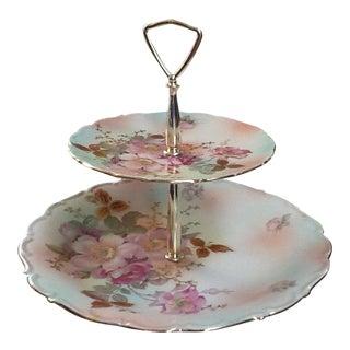 Antique Bavarian Dessert Plate Wild Rose For Sale