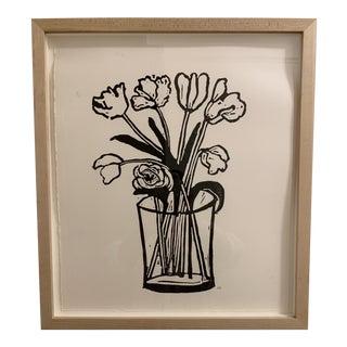 Hugo Guinness 'Cut Flowers' Framed Print For Sale