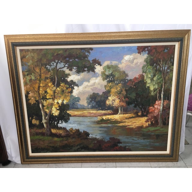 Late 20th Century Oil on Canvas Landscape Painting For Sale - Image 10 of 10