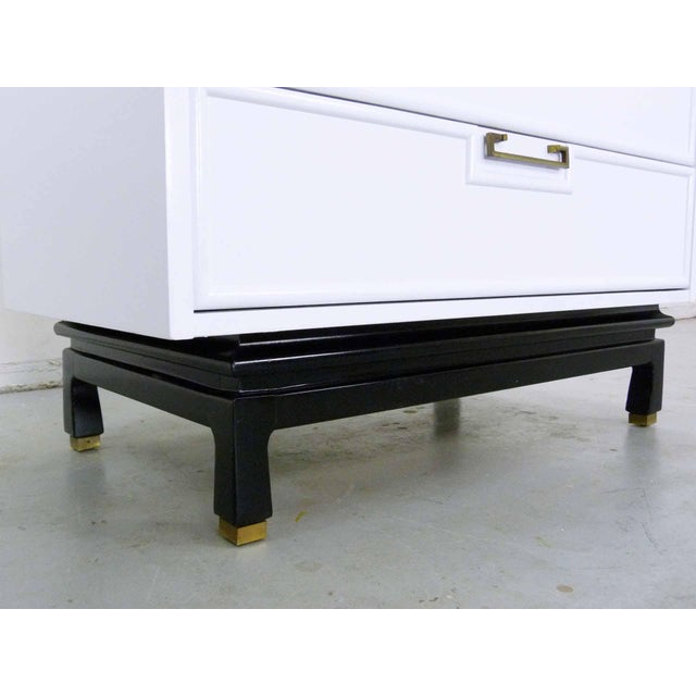 Asian Style White Chest by American Martinsville - Image 7 of 9