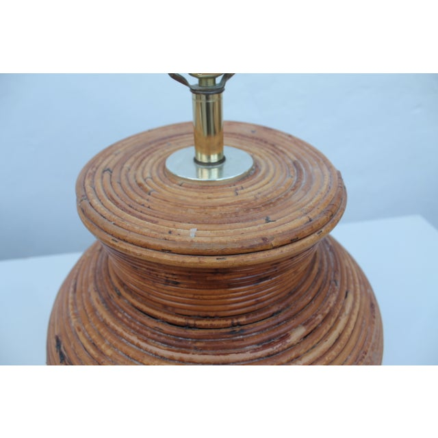 Vintage Pencil Reed Jar Table Lamp For Sale - Image 5 of 9