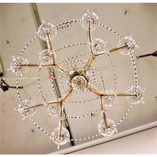 Vintage Maria Theresa Crystal Chandelier For Sale - Image 11 of 13