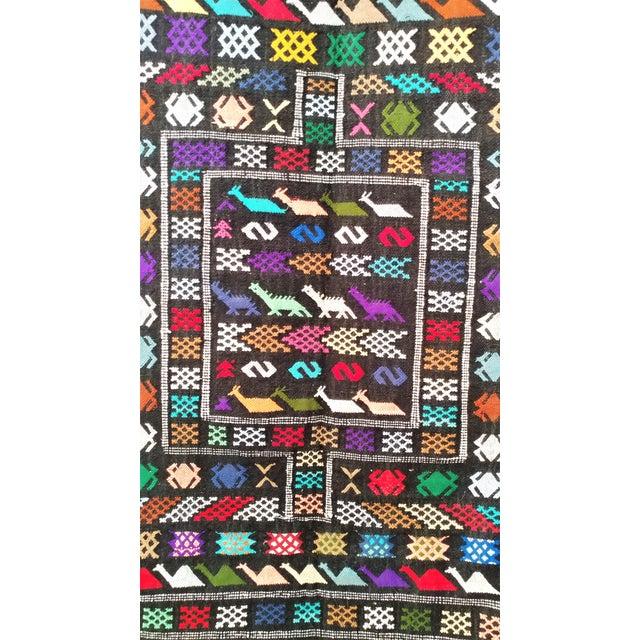 Moroccan Oued Zem Black Cotton Area Rug - 3′ × 4′6″ - Image 3 of 11
