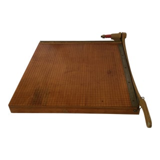 Vintage Maple Ingento Paper Cutter With 1162 Cutting Arm - 24 X 24 For Sale