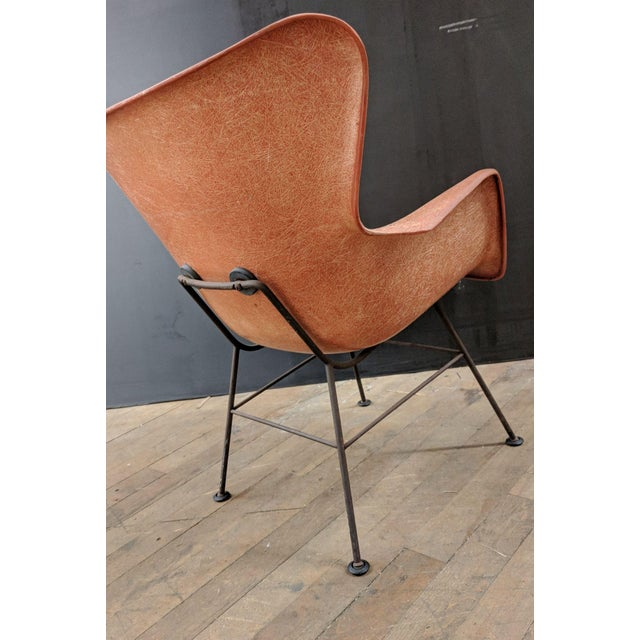 Lawrence Peabody for Selig Mid-Century Wingback Fiberglass Chair - Image 6 of 12