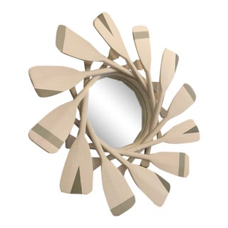 Handmade Paddle Mirror Sculpture For Sale