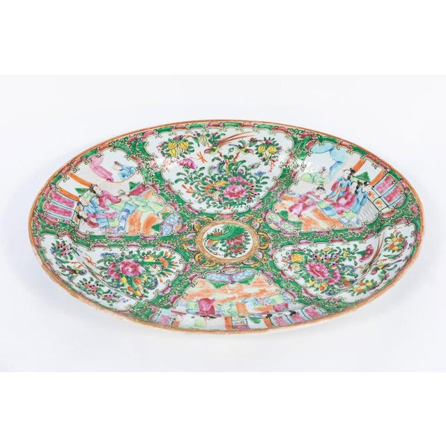19th Century Rose Medallion Covered Tureen and Platter - 2 Pieces For Sale - Image 10 of 11