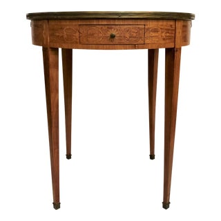 Antique French Round Lamp Table With Marble Top, Circa 1880. For Sale