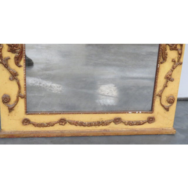 Neoclassical Style Paint Decorated Console & Mirror For Sale - Image 11 of 13