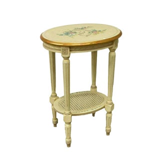 Vintage French Provincial Louis XVI Style Side Table For Sale