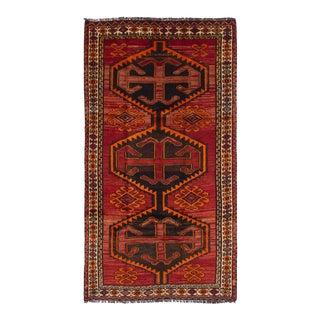 """SHIRAZ QASHQAI Vintage Persian Rug, 4'7"""" x 8'8"""" feet"""