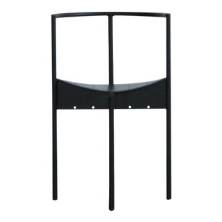 Vintage Mid Century Black Prototype Italian Chair For Sale