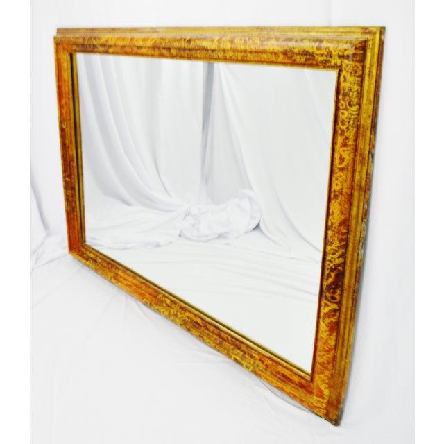 Vintage Mottled Paint Framed Mirror - Image 2 of 10