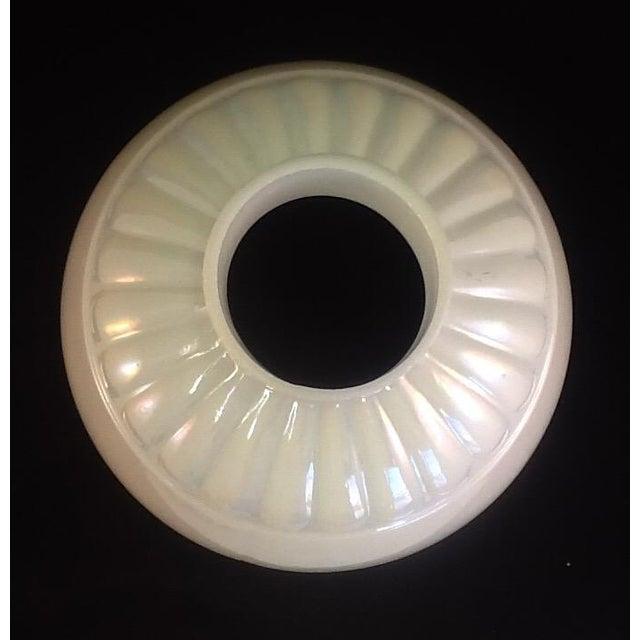 Vintage Irridesent Milkglass Lamp Globe - Image 5 of 5