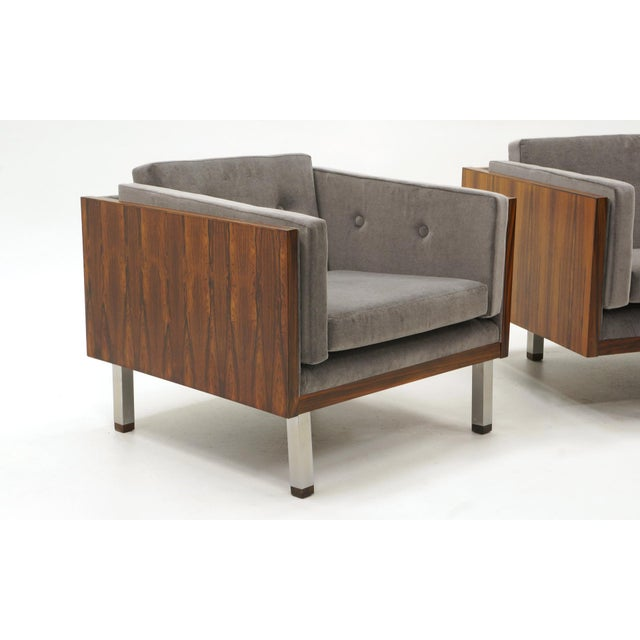 Pair of Case Settees or Loveseats and Chair in Rosewood by Jydsk Møbelværk For Sale In Kansas City - Image 6 of 11