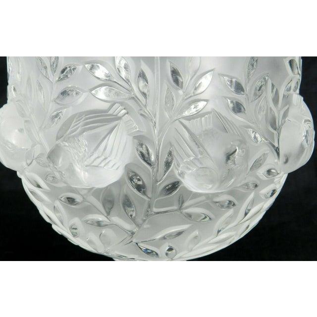 Lalique France Elizabeth Pedestal Footed Bowl For Sale In West Palm - Image 6 of 8