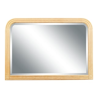 Vintage Jay Spectre for Century Furniture Cerused Oak Wall Mirror For Sale