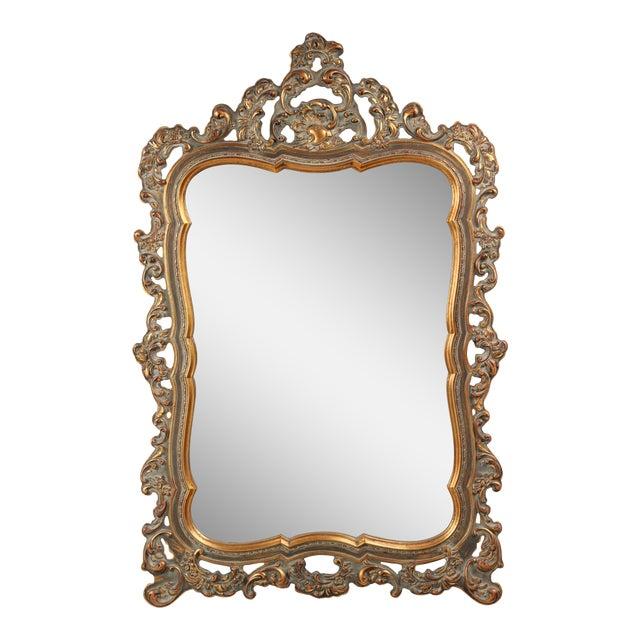1960s Rococo Revival Mirror For Sale